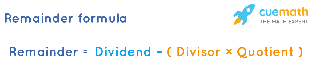 Remainder formula is used to calculate remainder in division operation