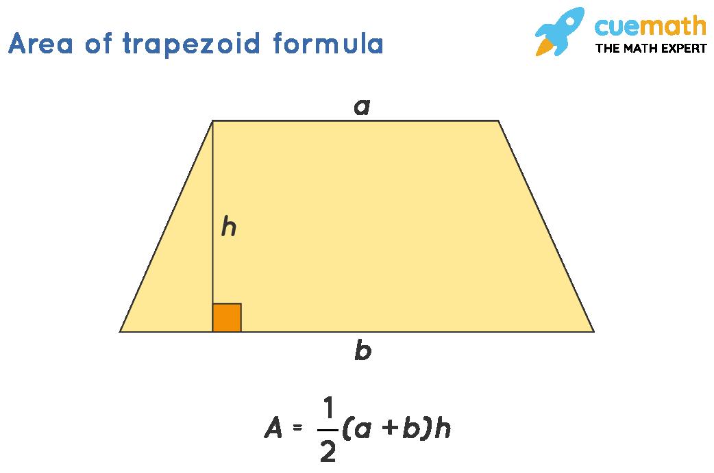 Area of trapezoid formula