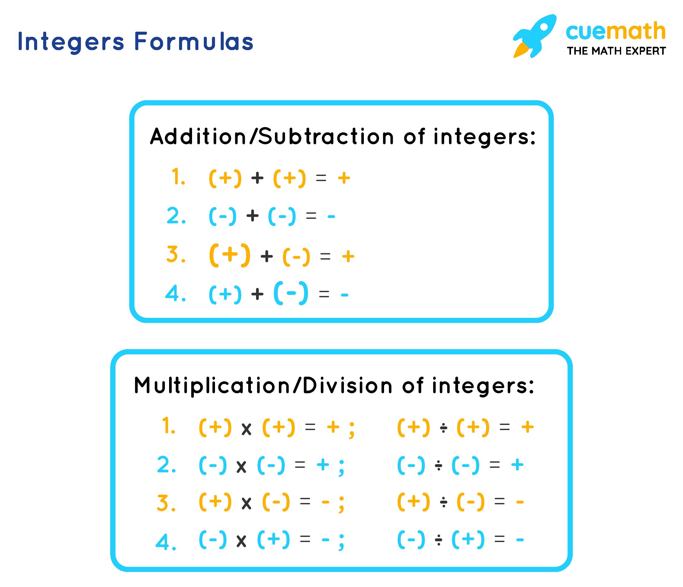 Integers formulas