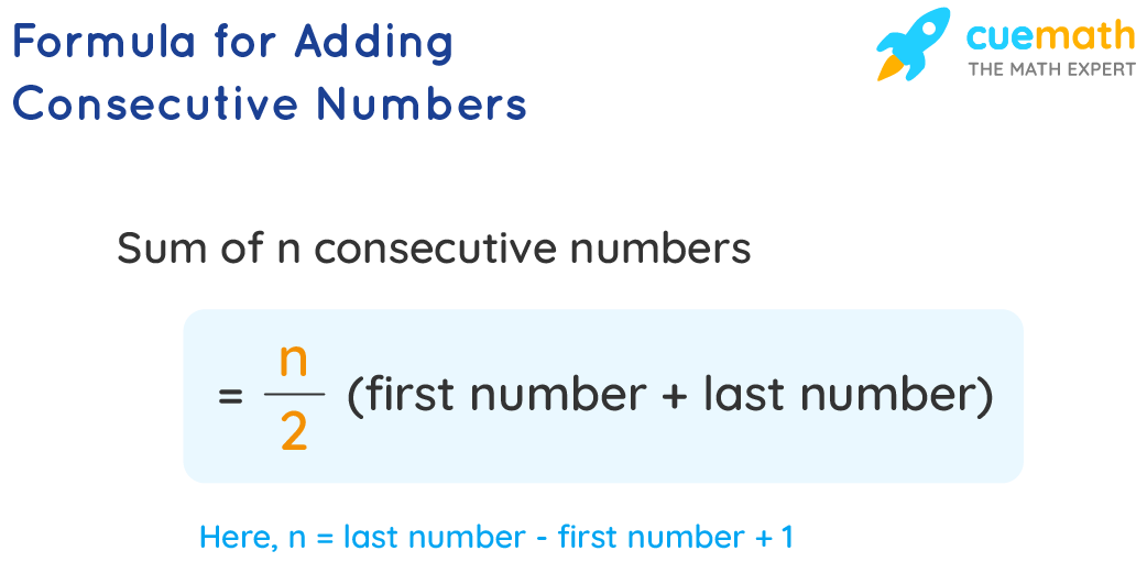Formula for Adding Consecutive Numbers