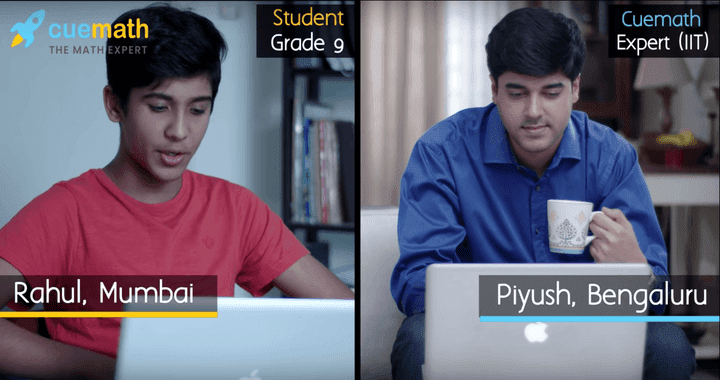 Cuemath student and teacher during online class