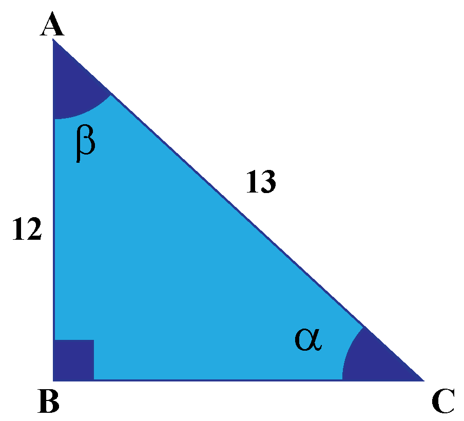 Cosecant angles alpha and beta in triangle ABC