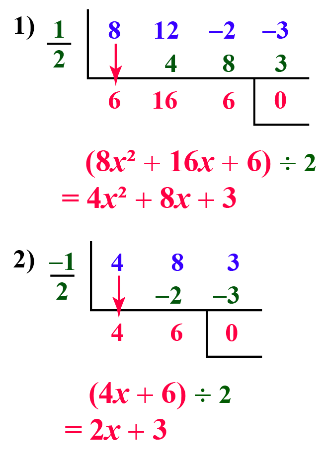 synthetic division of polynomials