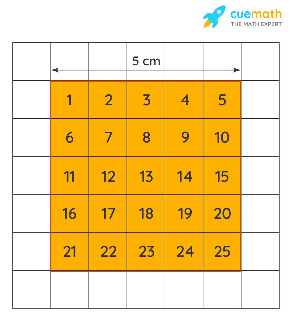 area of a square using the grid squares