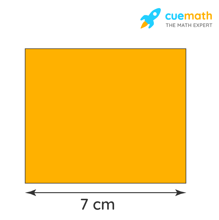 area of a square of side 7 cm