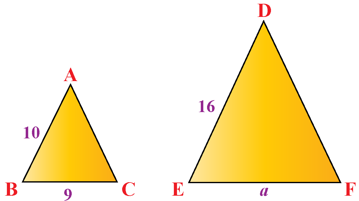 triangles ABC and DEF