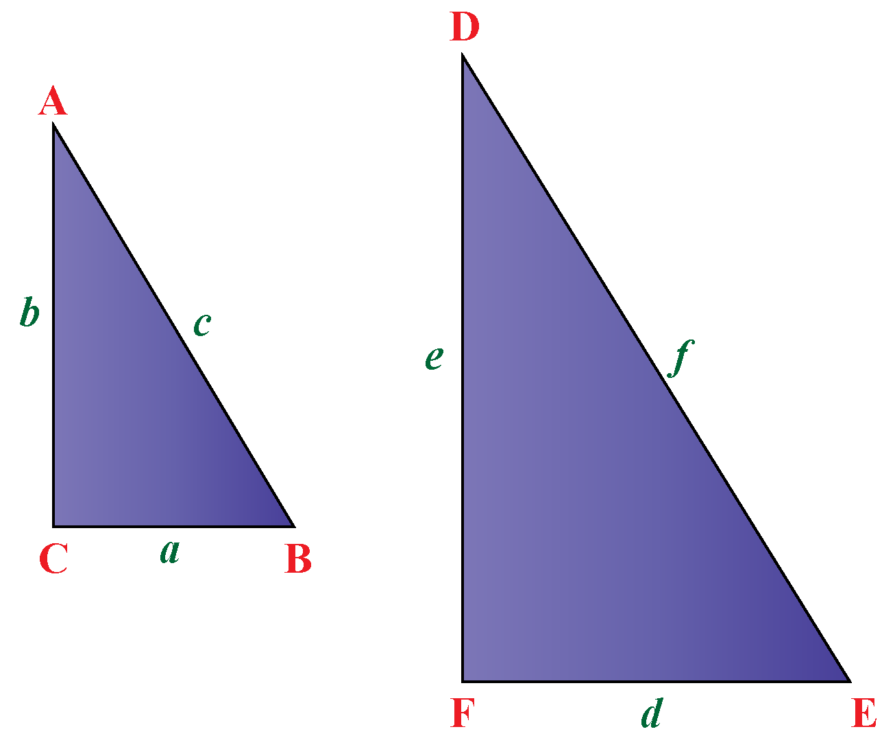 similarity in right triangles