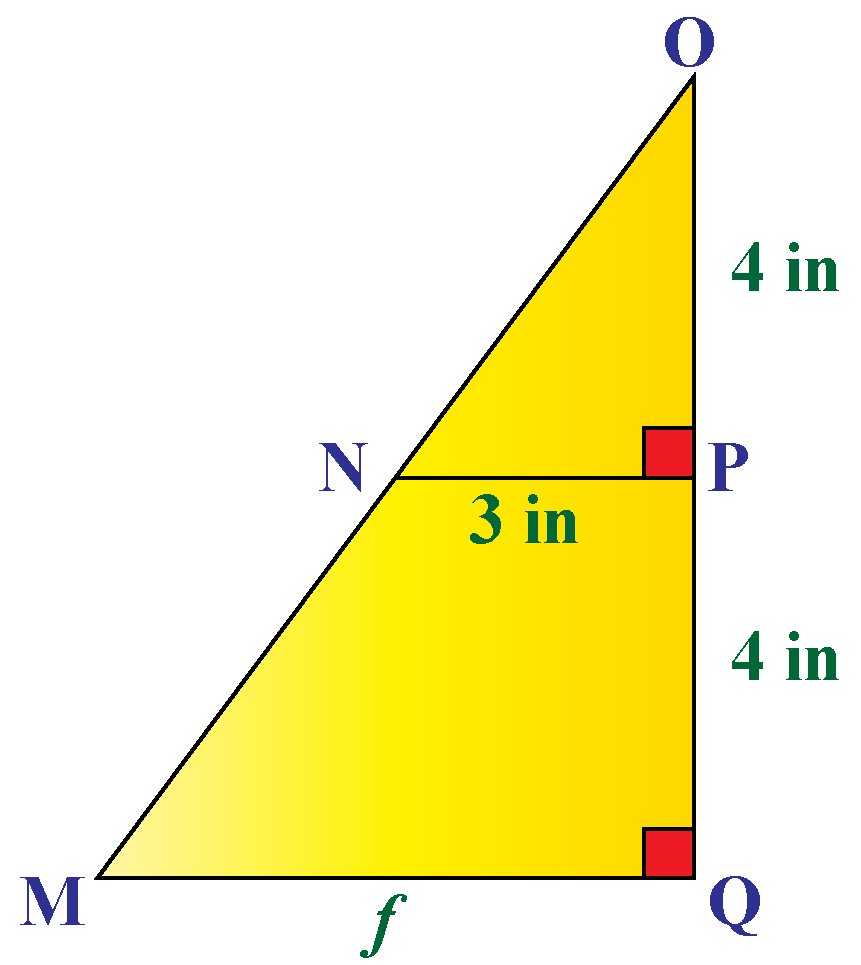 corresponding sides of right triangle