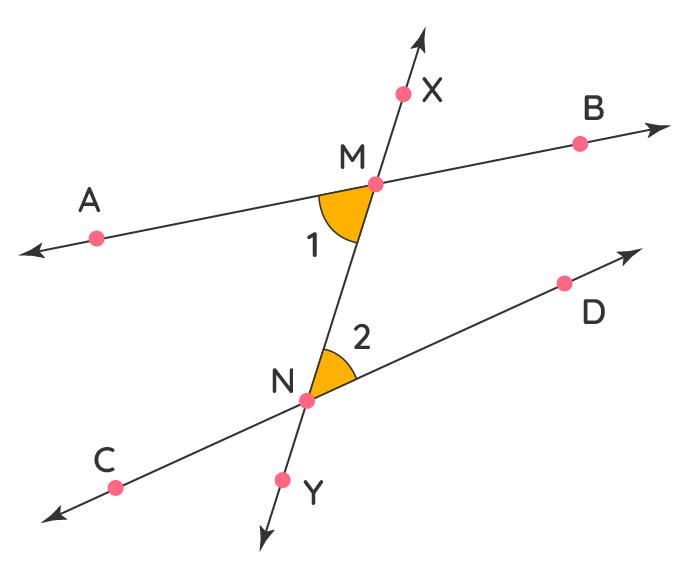 finding transversals and related angles