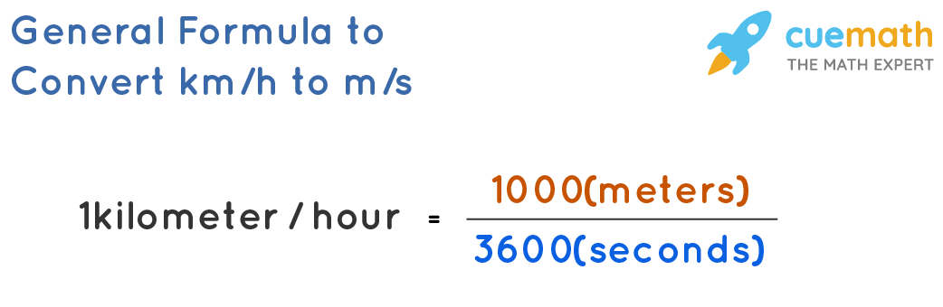 General Formula to Convert km/h to m/s