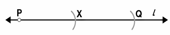 Given AB of length 3.9 cm, construct PQ such that the length of PQ is twice that of AB. Verify by measurement