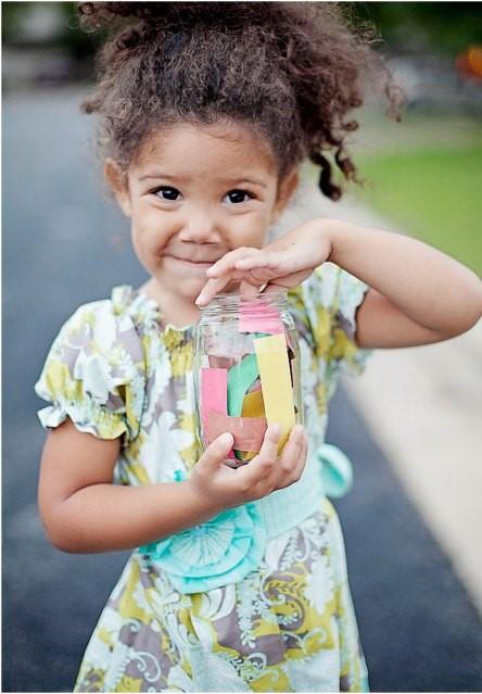 Child's gratitude jar