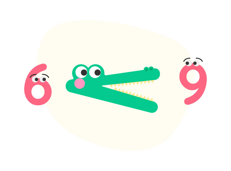 9 is greater than 6