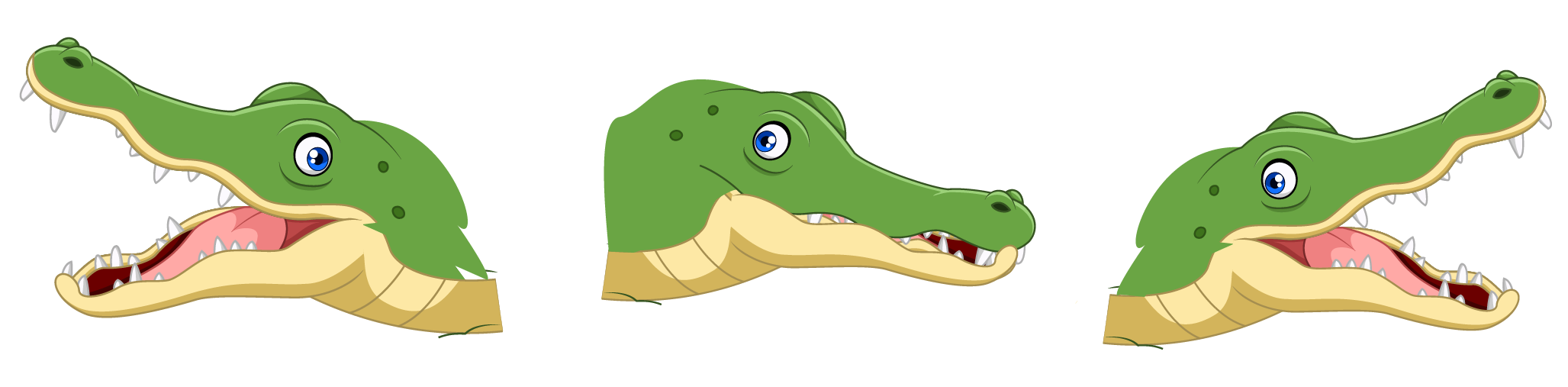 Understand greater than sign using an alligator's open mouth