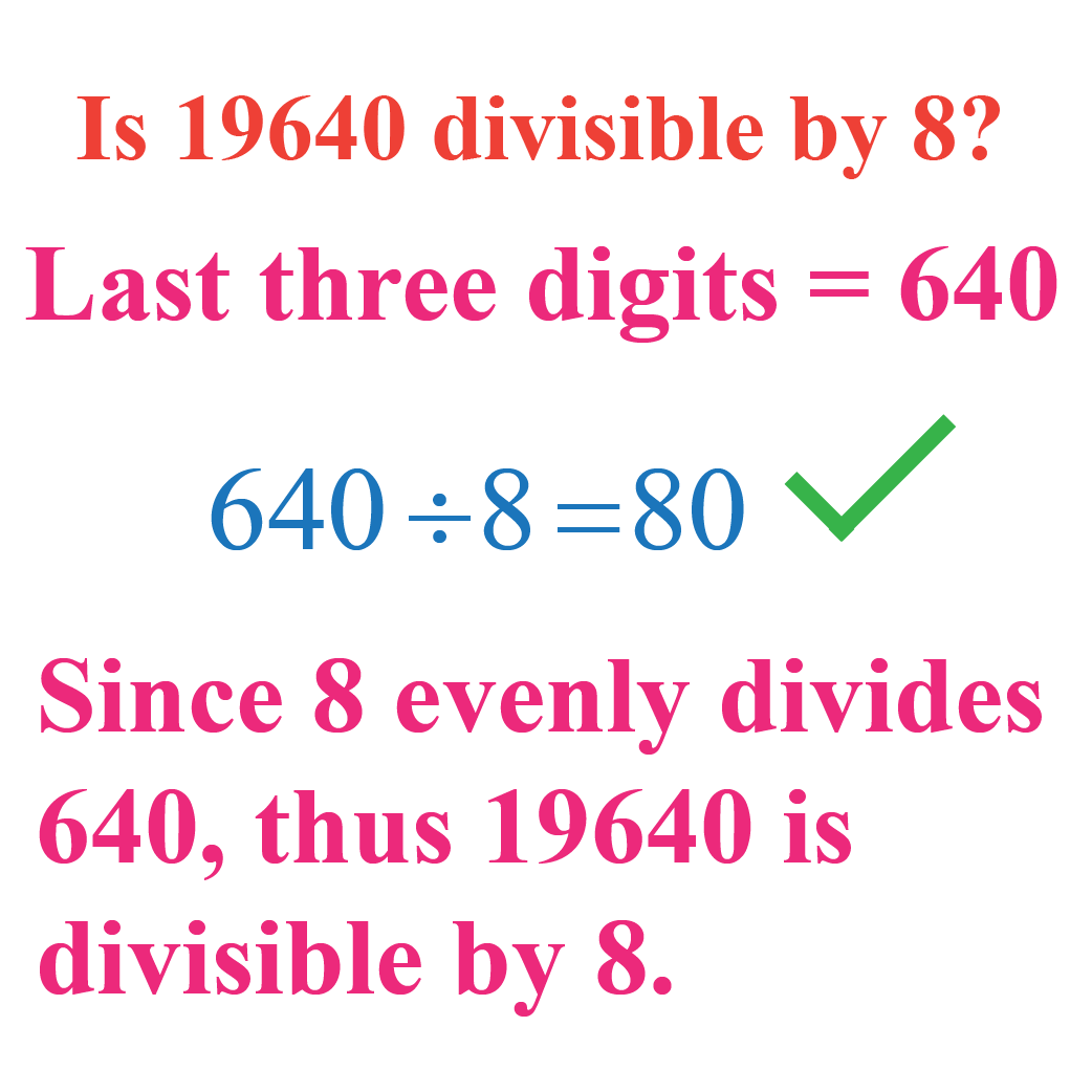 Example: Divisibility by 8