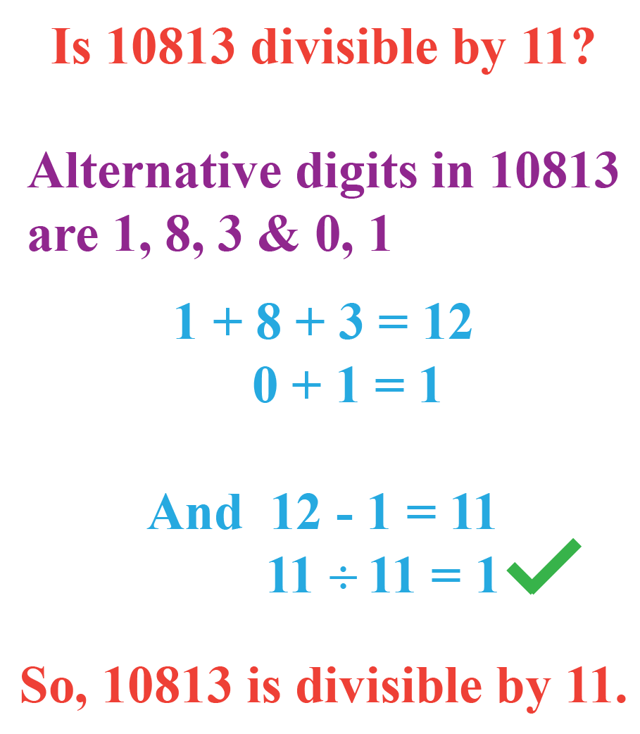 Example: Divisibility by 11