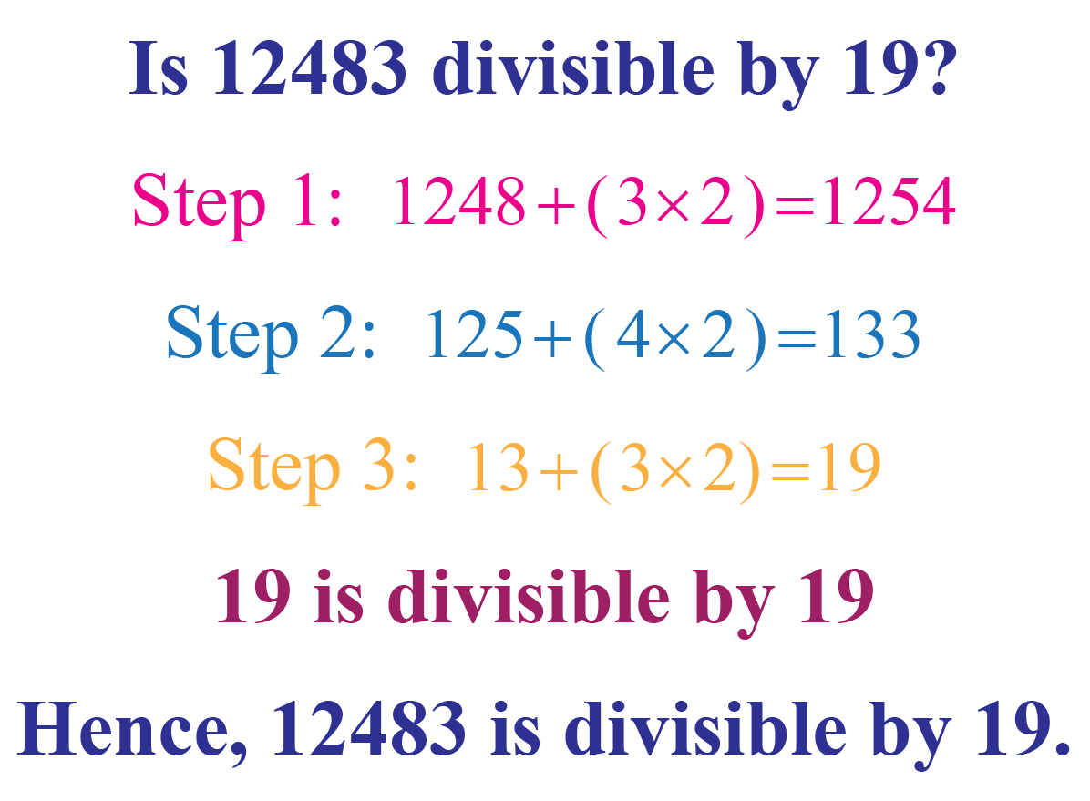 Example: Divisibility by 19