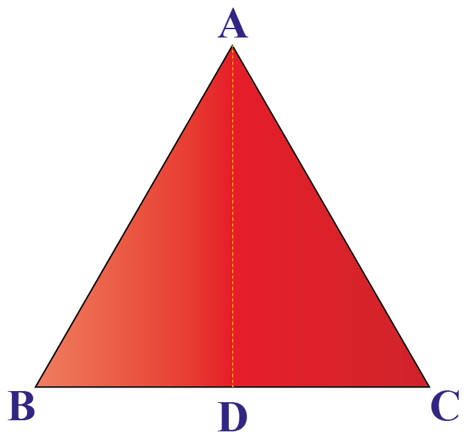 Isosceles triangle ABC with median AD