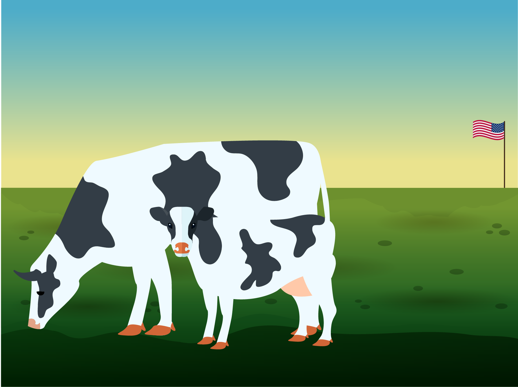 Less Than Solved Example: Weight comparison of a cow and its calf