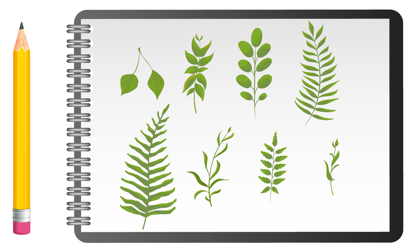 Less Than Solved Example: Leaves on a page