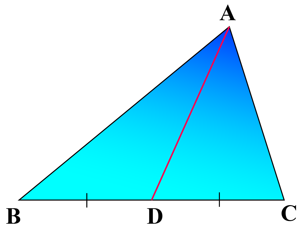 AD is the median of triangle ABC