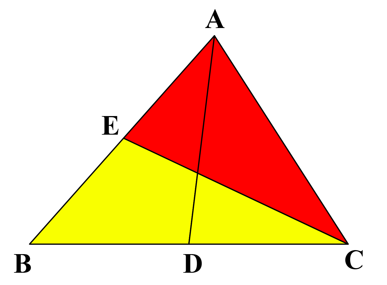 AD and EC are two medians of triangle ABC