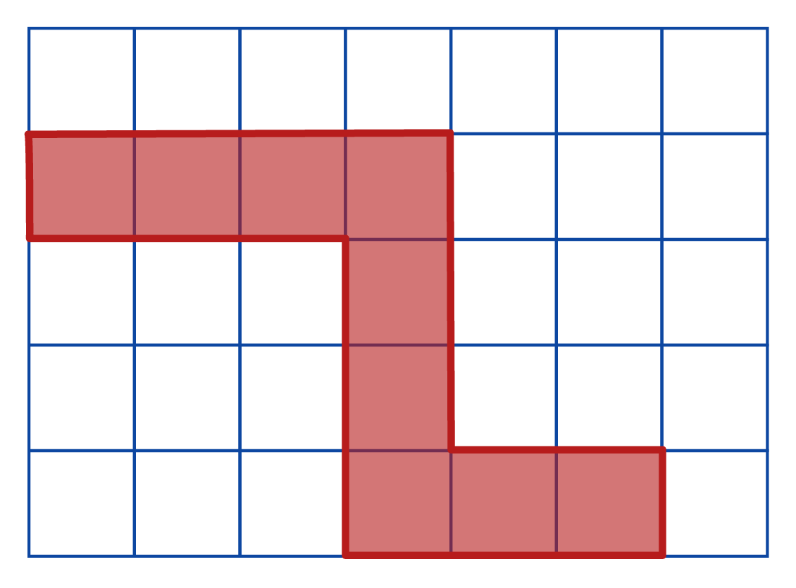 A grid with unit squares.