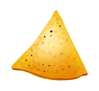 A nacho is shown as an example of an isosceles triangle.