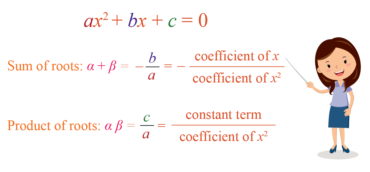 Quadratic polynomial: Sum of Roots and Product of Roots