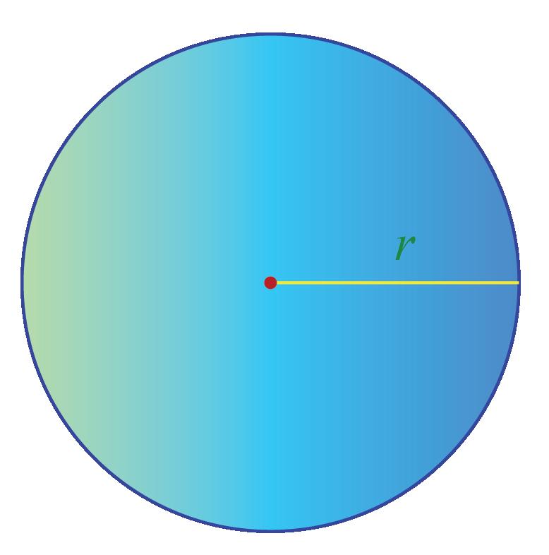 Circle of radius 5 cm