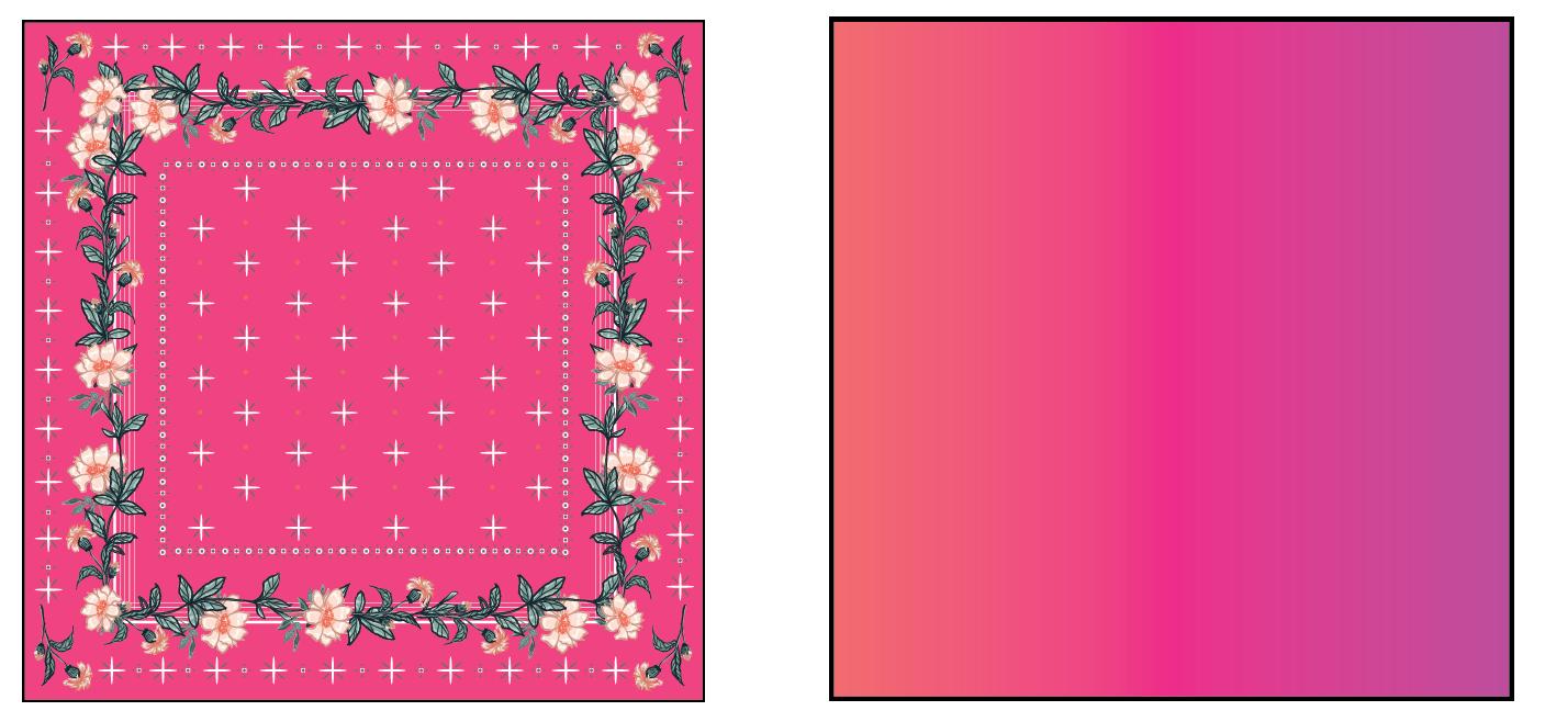a square shaped handkerchief