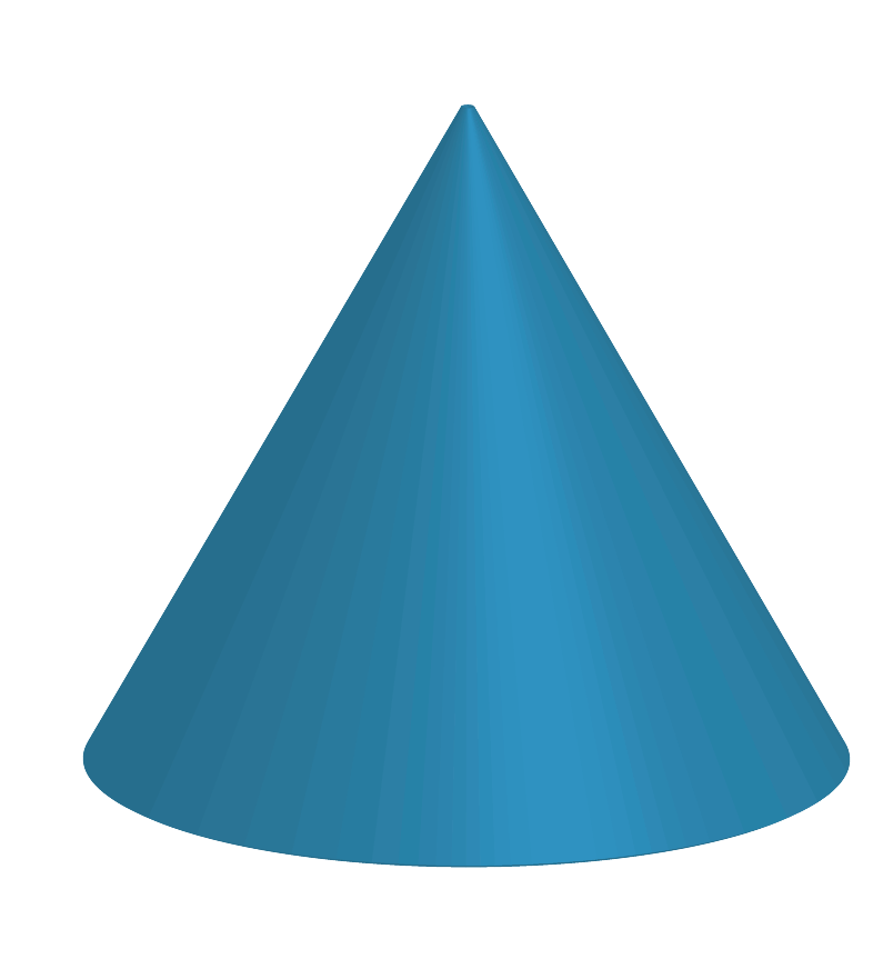 Shape of a cone is a 3D shape