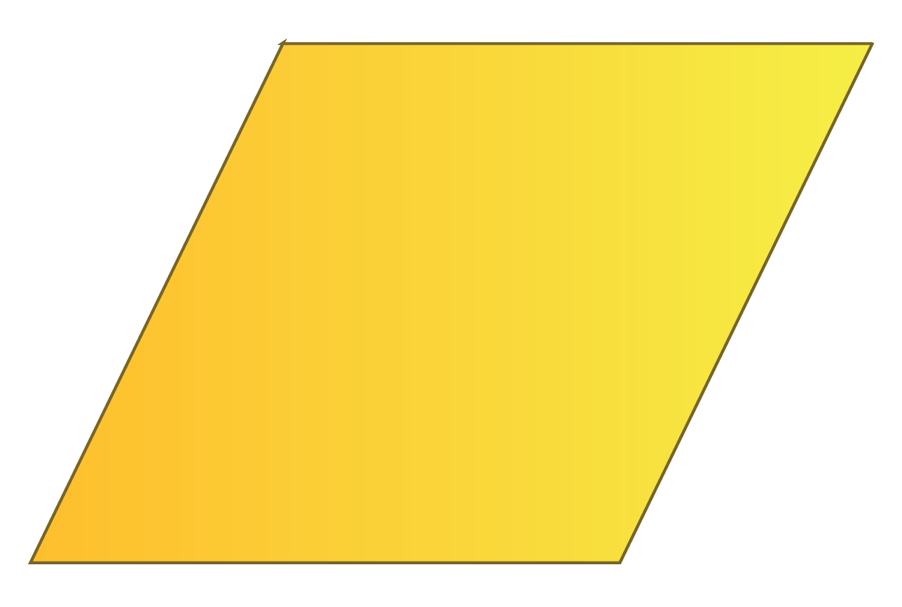 A rhombus is a 2D shape