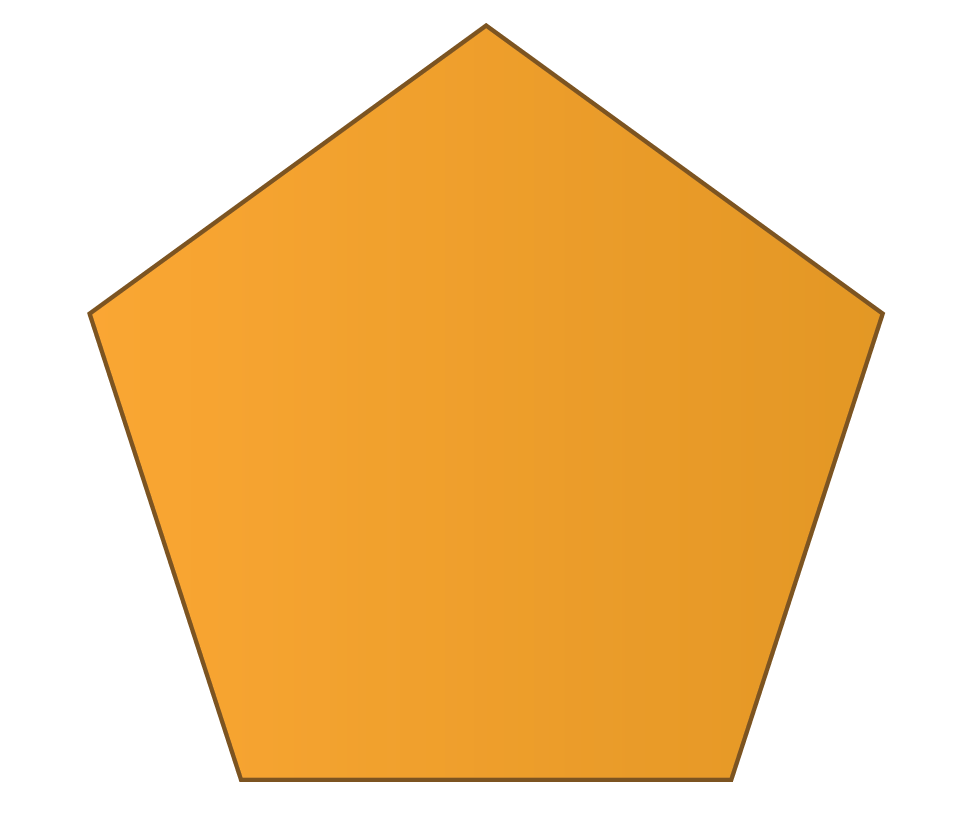 A pentagon is a 2D shape