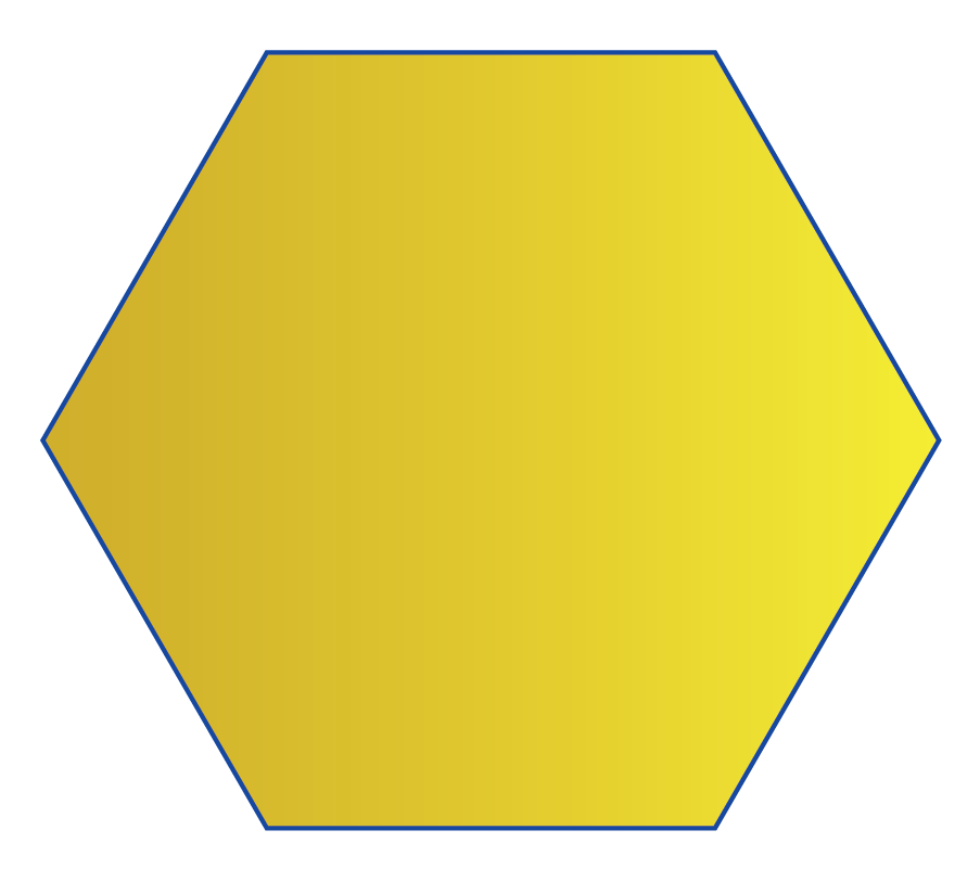 A hexagon is a 2D shape