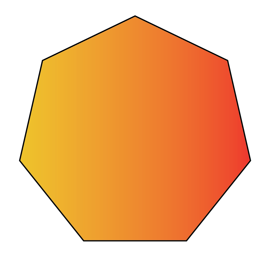 A septagon 7 sided polygon