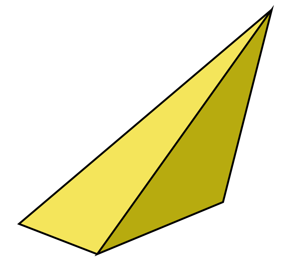 Irregular tetrahedron has triangles as its faces, but they are not equilateral.
