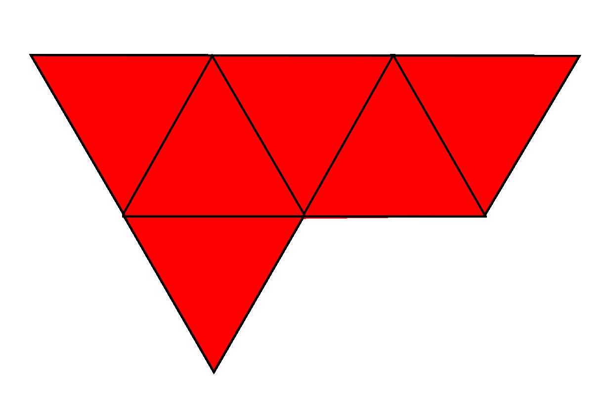 Net of 2 tetrahedrons glued together