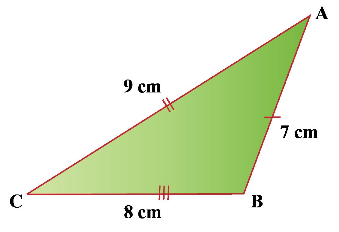 An obtuse scalene triangle