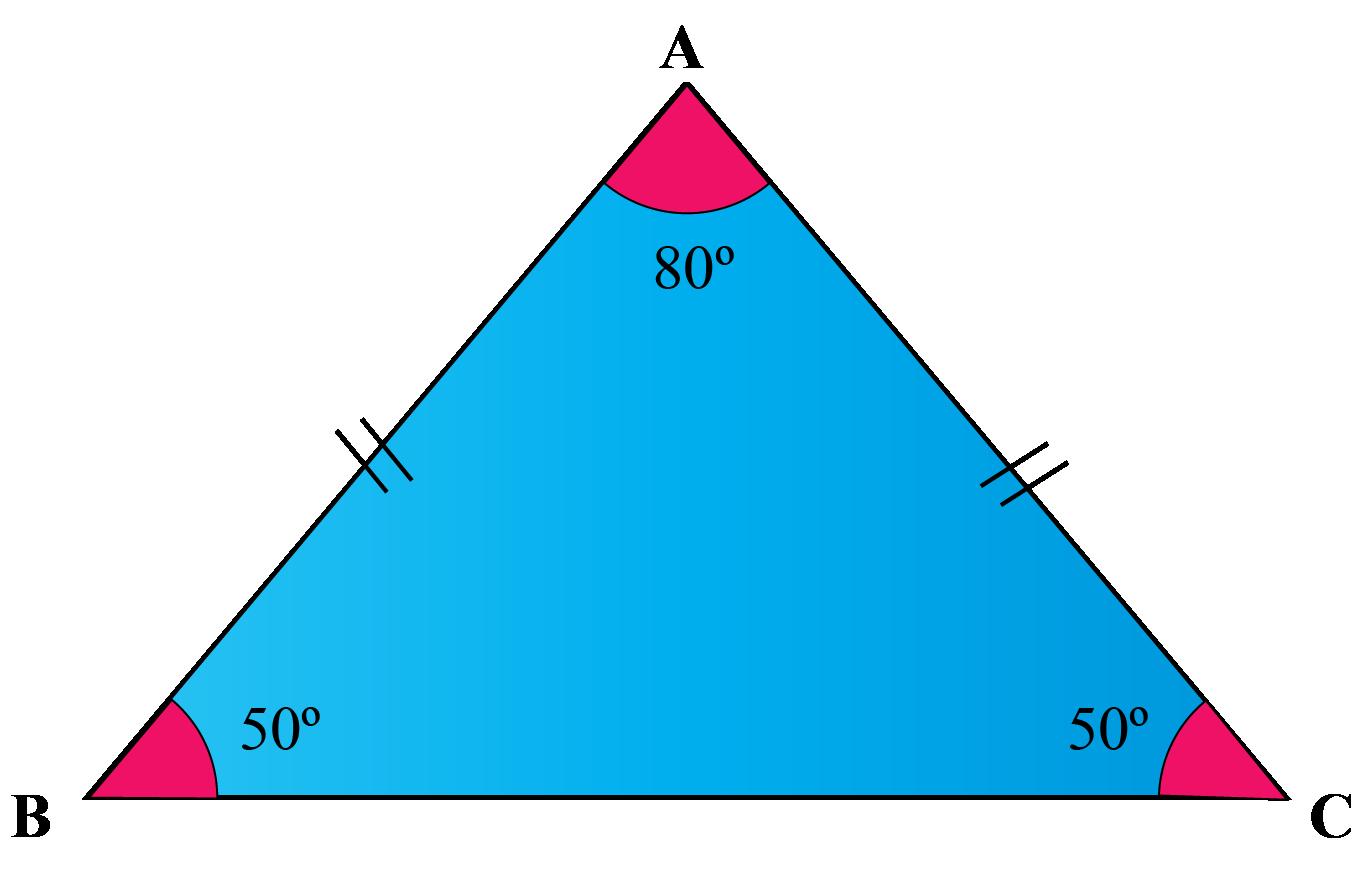 An acute isosceles triangle