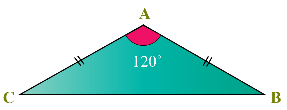 Obtuse angled isoceles triangle
