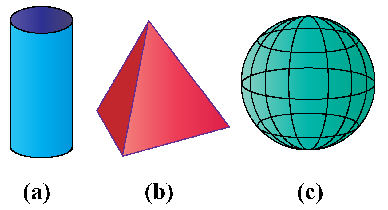 Shape of a pyramid is a 3D shape