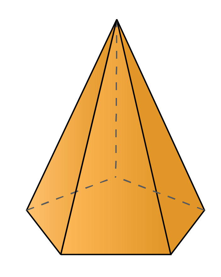 A pentagonal pyramid