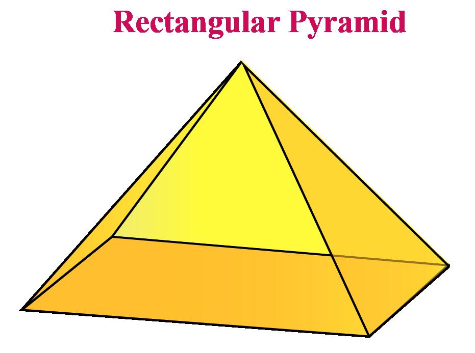 A rectangular pyramid