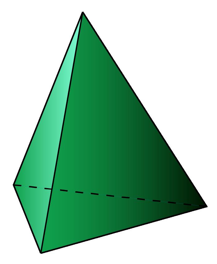 A triangular pyramid