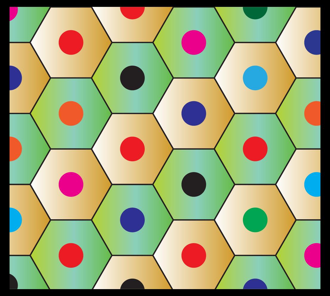 Hexagonal shape formed by pencils