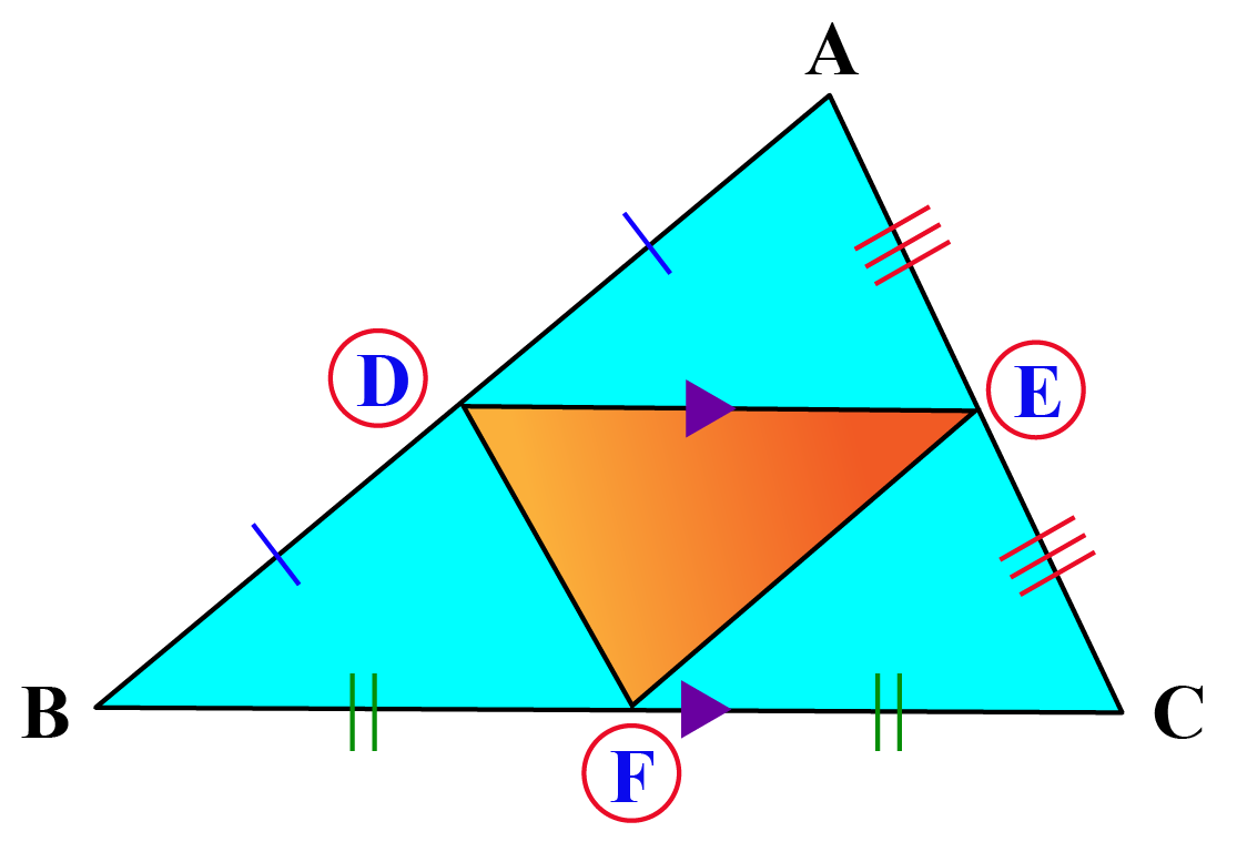 Midsegment theorem triangle image
