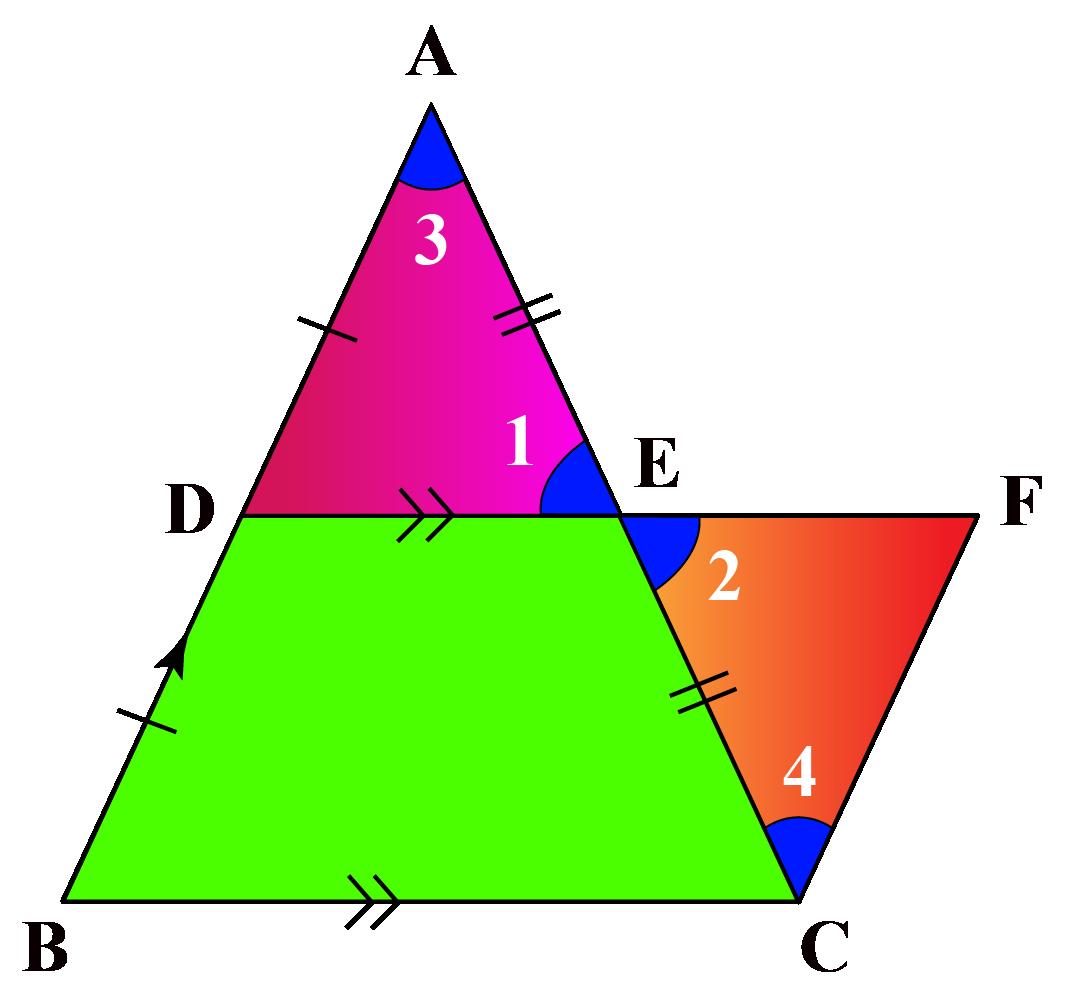 Triangle with midsegment DE