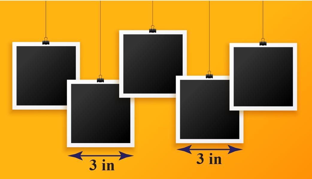 Sqaure-shaped photo frames