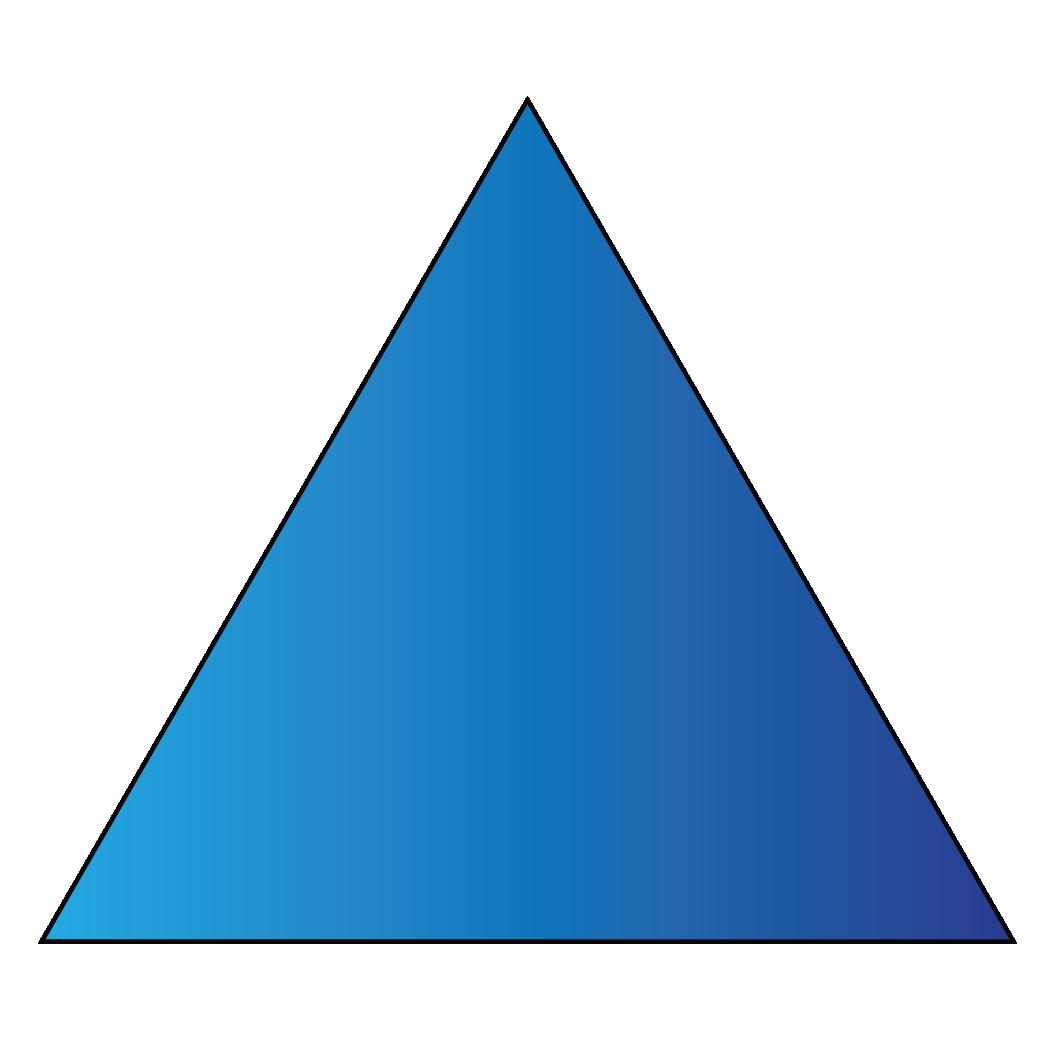 A triangle is a 2D shape